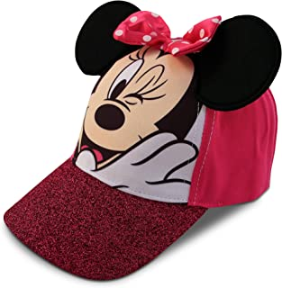 d4bbd304aeea5 Disney Little Girls Minnie Mouse Character Cotton Baseball Cap