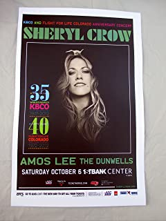 2012 Sheryl Crow & Amos Lee Broomfield,CO Concert Poster