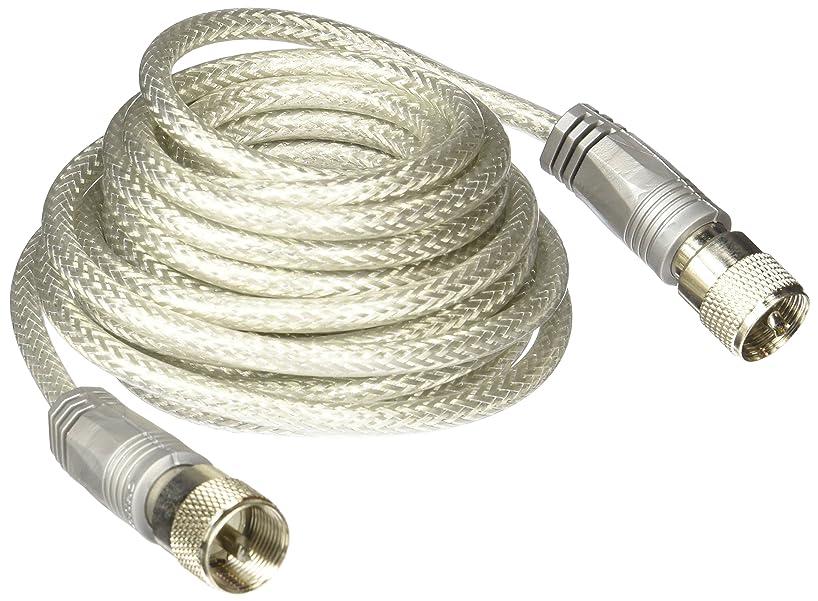 TruckSpec TSPS-8X18SM8 Silver 18' CB Antenna Mini-8 Coax Cable with PL-259 Connectors