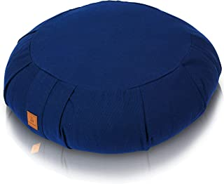 Seat Of Your Soul 2019 Meditation Cushion - Comfortable, Supportive & Durable Organic Cotton & Adjustable Buckwheat Filling | 7 Colors Crescent, Round Or Zabuton | Zafu Yoga Pillow