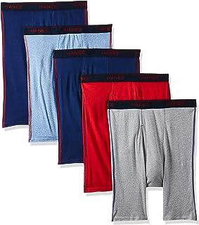 Hanes Mens 5-pack Sports Cooldri Control Inspired Long Leg Boxer Brief 5-pack Sports Cooldri Control Inspired Long Leg Box...
