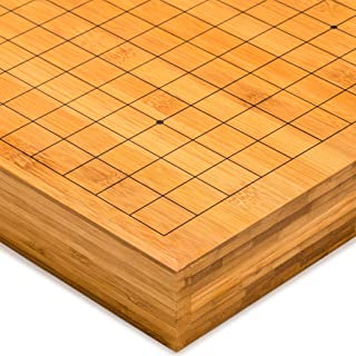 Yellow Mountain Imports Bamboo Go Game Table Board (Goban) - 2 Inches Thick
