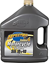 Spectro Golden 4 Synthetic Petroleum Blend Motorcycle Engine Lubricant 10w40 Oil - 4 Liters