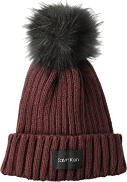 Pop Color Pom Knit Beanie