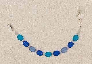 Sea Glass Droplet Bracelet, in the Blues Palette