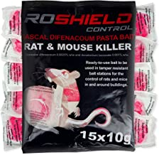 Roshield 15 Rodent Pasta Poison Sachets For Mouse Mice Rat Control - Bait Station Refill Pack (1 x 150g Packs)