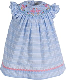 Carriage Boutique Girls Bishop Dress - Short Sleeves and Hand Smocked