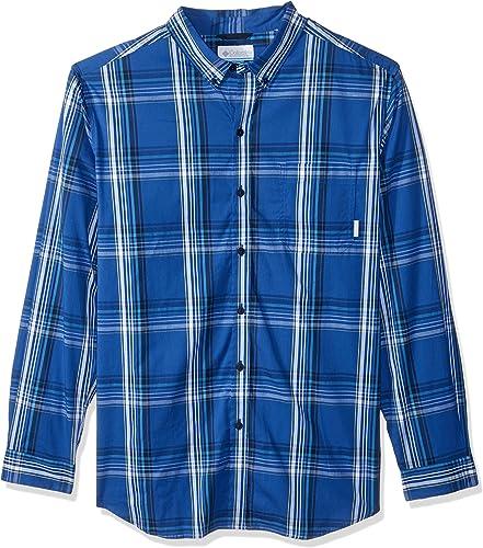 Columbia Hommes's Rapid Rivers II Big & Tall manche longue Shirt, bleu Plaid, 3X