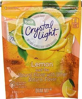 Crystal Light Ice Tea, Natural Lemon, 32 Count 2 Pack of 16ct,64 Quarts
