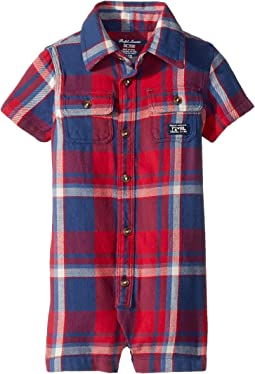 Ralph Lauren Baby - Plaid Cotton Shortalls (Infant)