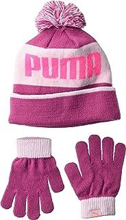 Women's Kids' Evercat Block Cuff Pom Youth Beanie and Glove Set