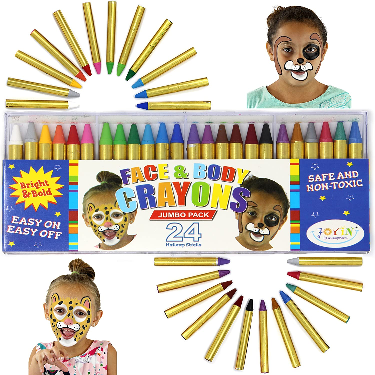 JOYIN 55% OFF 24 Colors Los Angeles Mall Face Paint Non-Toxic Safe and Crayon Body