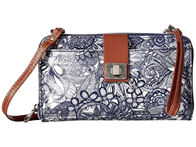 Sakroots Artist Circle Large Smartphone Crossbody (Navy Spirit Desert) Clutch Handbags