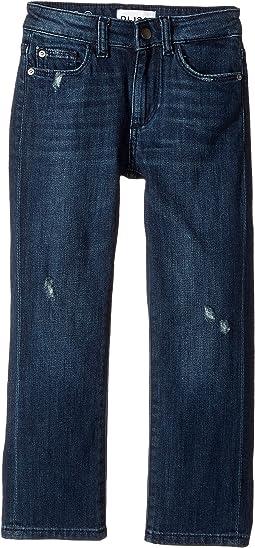 Mid Wash Distressed Slim Leg Jeans in Lodi (Toddler/Little Kids/Big Kids)