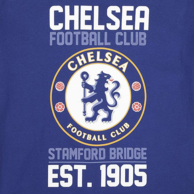 New 4-5 Years Blue Chelsea FC Official Kid/'s Club Logo Poly T-Shirt