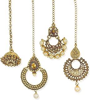 Zaveri Pearls Hair Jewellery for Women (Golden) (ZPFK6649)