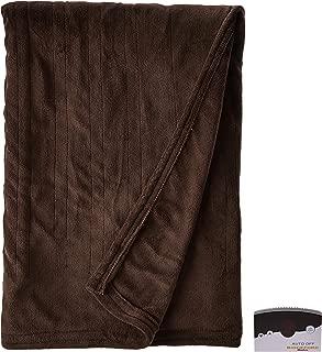Biddeford 2020-905291-711 Electric Heated Knit MicroPlush Blanket, Twin, Chocolate