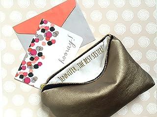 Personalized Bridesmaid Wedding Makeup Clutch Bag with Custom Secret  Message. Bridal Party Favor. 7344e64fb5e44