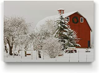 Renditions Gallery Farm V' Gallery Wrapped Canvas Christmas Wall Art, 30x40