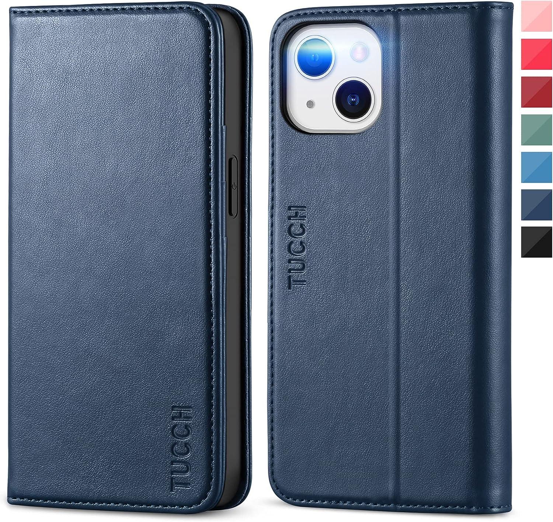 TUCCH Funda Compatible con iPhone 13 Mini, Funda de Cuero PU con Concha Interna de TPU, Soporte Plegable, Ranura para Tarjeta, Funda Piel Protectora para iPhone 13 Mini 5G(5.4