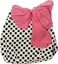 Jessie Steele Polka Dot Tote Bag with Pink Chiffon Bow, Cream and Black