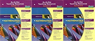 3 Volumes of Prentice Hall Mathematics Course 1: All-In-One Teaching Resource - Book for Chapters 1-4, Book for Chapters 5-8, & Book for Chapters 9-12