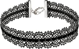 Chan Luu - Black Mix Lace Choker Necklace