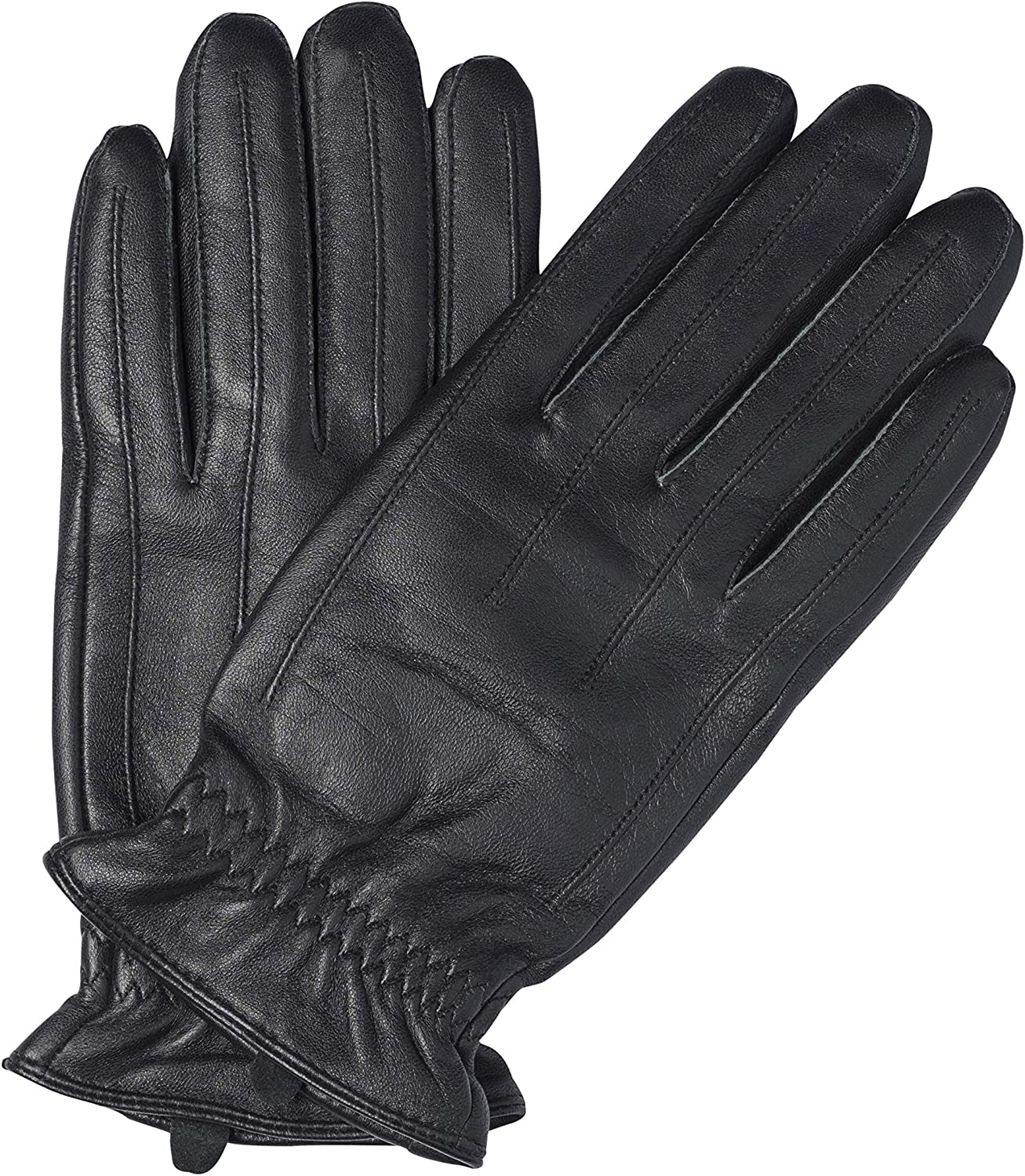 Sandory Black Men's Touch Technology SALENEW very popular! lined 100% Genuine Super special price Cashmere