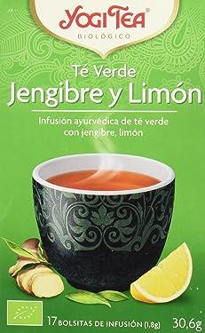 Yogi Tea Verde Jengibre Limón - Paquete de 6 x 17 Sobres - Total: 102 Sobres