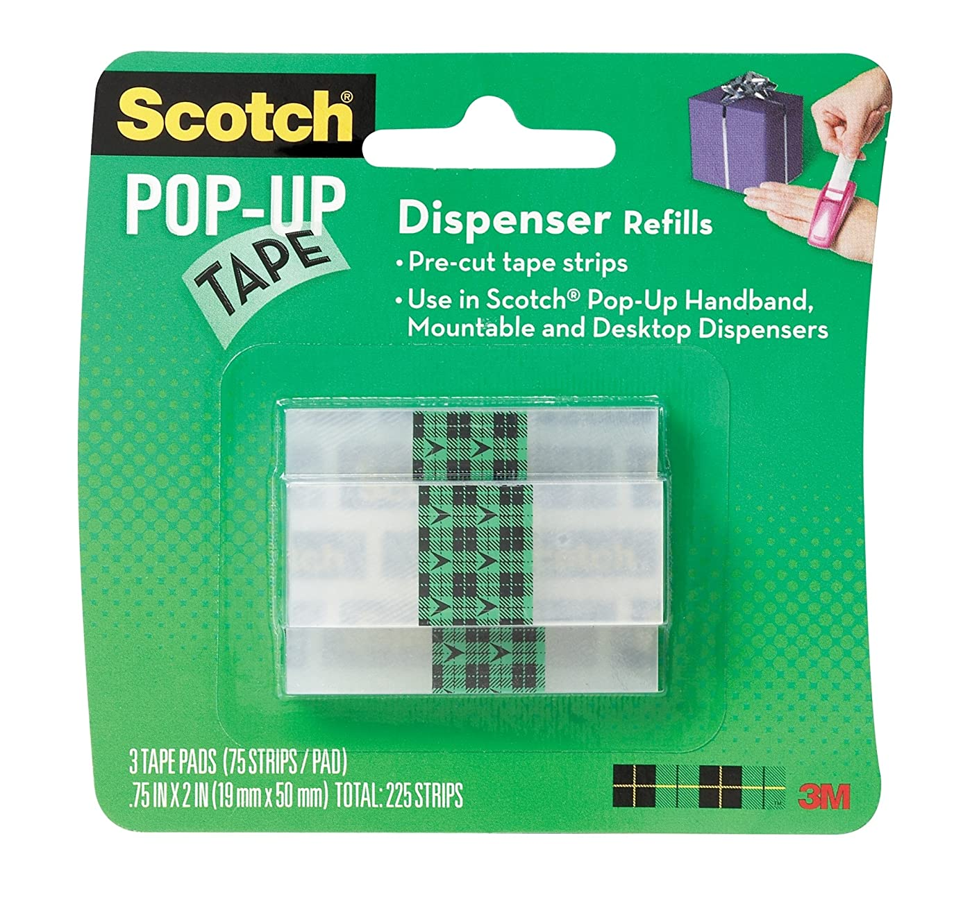 3M 99-G-W 051141234823 Scotch 99G Office Tape-3/4 in Width-for Use with: Pop-Up Tape Dispensers-23482 [Price is per Pack]