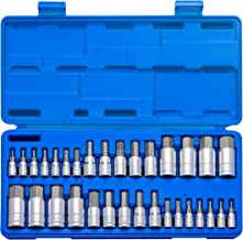 Neiko 10288A Master Hex Bit Socket Set, 32 Piece | S2 Steel Machined Bits | Standard SAE and Metric Sized Sockets | 1/4