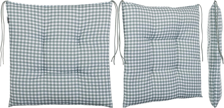 gris clair Coussin d/'assise Brandsseller /à carreaux beige beige 1 pi/èce 40 x 40 cm Coton m/élang/é Pour le jardin marron Anthracite