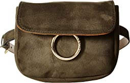 Suede with Ring Detail Belt Bag