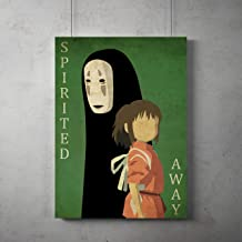 Anime vintage minimalist Poster, Spirited Away minimalist prints, Spirited Away Noface print, Spirited Away poster, All Prints avialable in 9 SIZES and 3 type of MATERIALS