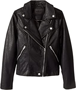 Vegan Leather Moto Jacket in Life Lessons (Big Kids)