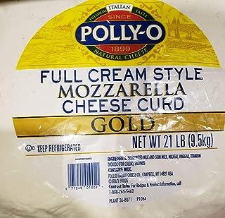 Polly-O Full Cream Style Mozzarella Cheese Curd GOLD Net 21lb (9.5kg)