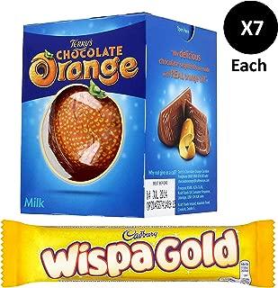 Cadbury Wispa Gold 7 x48g + Terry's Chocolate Orange Ball 7 x157g.