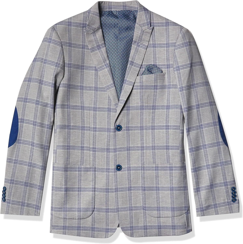 Isaac Mizrahi Boy's Plaid Contrast Blazer