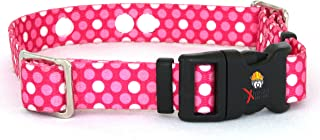 Invisible Fence Collar Compatible Heavy Duty Replacement Strap with the Rugged Lock-Easy Release Clip - Pink Dots   Medium Up to 18