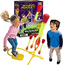 The Original Stomp Rocket Ultra Rocket LED, 4 Rockets - Outdoor Rocket Toy Gift for Boys and Girls- Comes with Toy Rocket ...