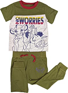 The Lion King No Worries Short Sleeve Shirt and Pants for Toddler Boys