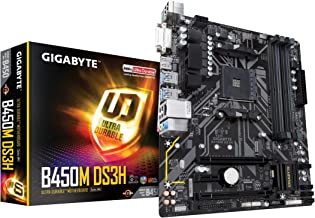 GIGABYTE B450M DS3H (AMD Ryzen AM4/Micro ATX/M.2/HMDI/DVI/USB 3.1/DDR4/Motherboard)