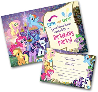 My Little Pony Party Invitations Pack Envelopes WRITE ON Click Customize For Prices