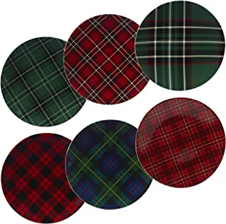 Certified International 22925SET6 Christmas Plaid 10.75