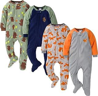 Gerber Baby Boys' 4-Pack Blanket Sleeper, Grey Fox and Bears, 6-9 Months