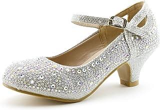 c660fd97a68 Link Girls Rhinestone Platform Peagent Dress Shoes (Toddler Little Kid Big  Kid)