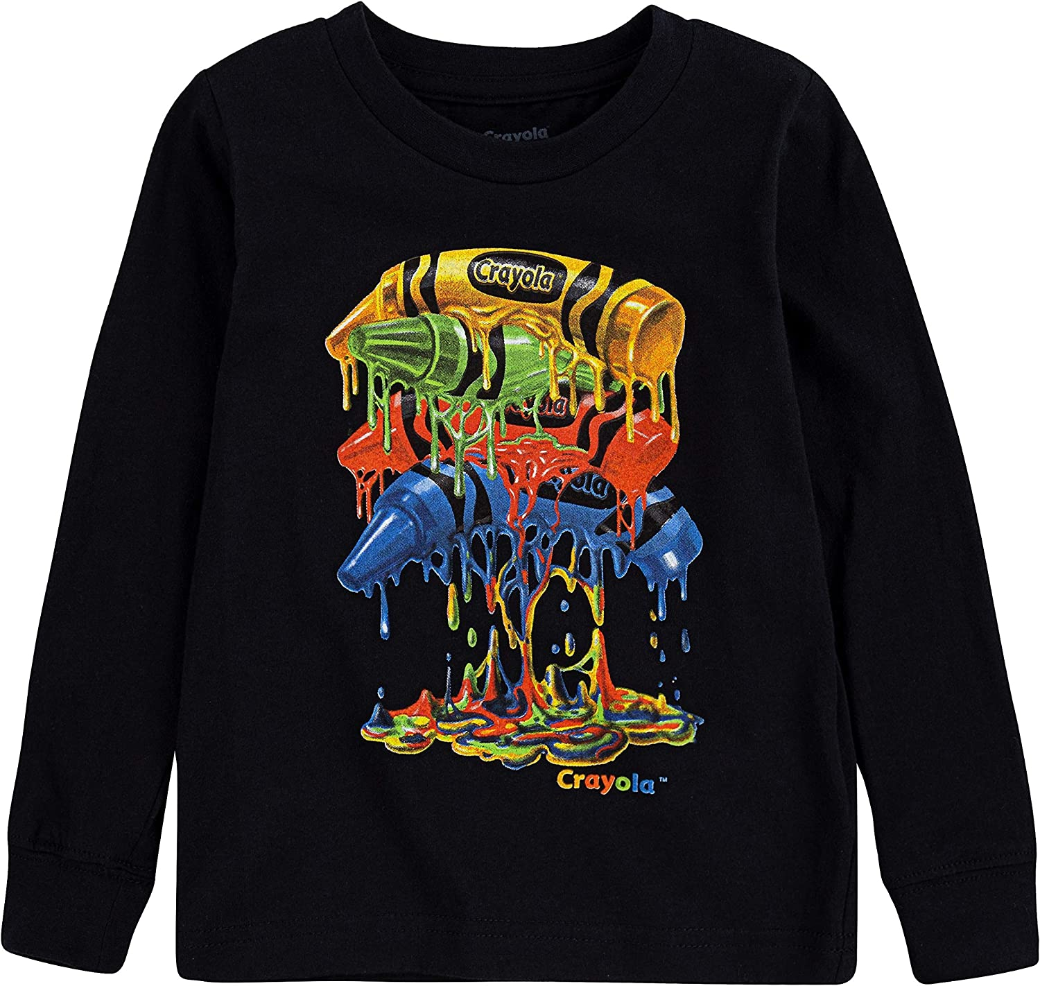 Crayola Boys' Little Long Sleeve メーカー直売 売店 T-Shirt and Jogger Pant Graphic