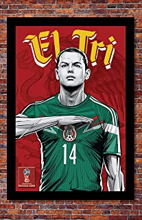 2018 World Cup Soccer Russia | TEAM MEXICO Poster | 13 x 19 inches