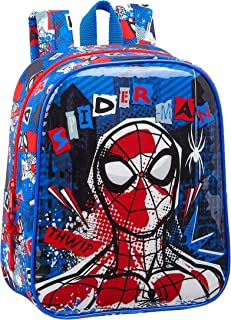 612043232 Mochila Guardería Niña Adaptable Carro Spiderman, Color Azul