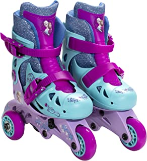 PlayWheels Disney Frozen Convertible 2-in-1 Kids Skates, Size 6-9